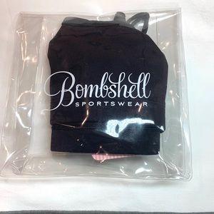NWT Bombshell Sportswear black sports bra